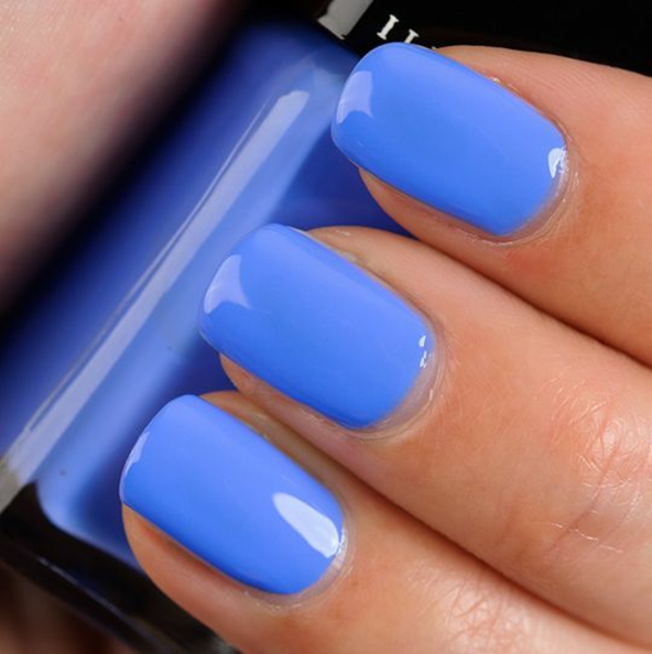 properly nails paint blue nail polish design