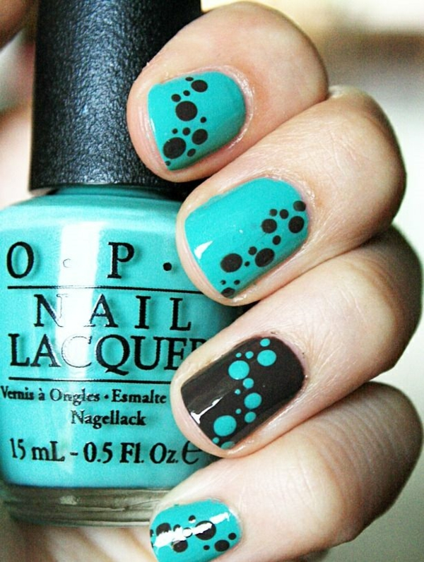 properly nails paint pattern dots nail polish design