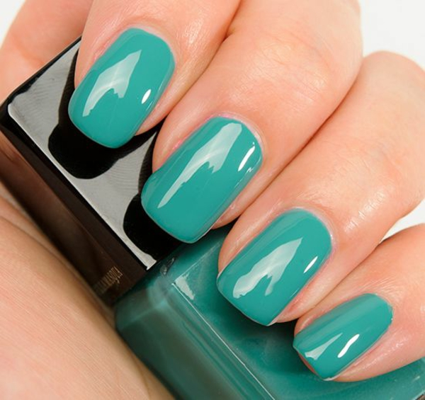 properly nails paint turquoise nail polish design