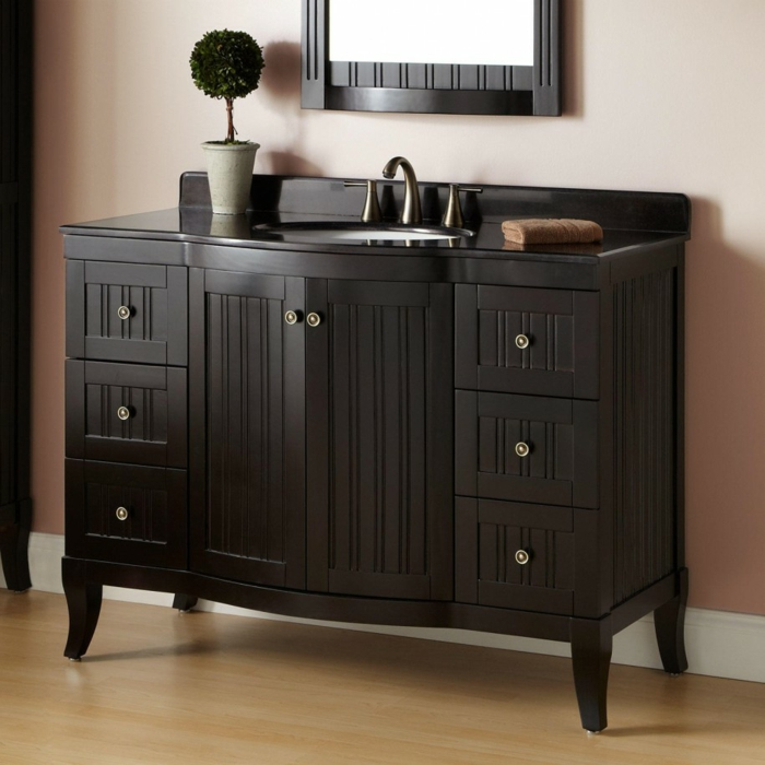 rustic bathroom ideas vanity wood with drawers