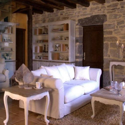 rustic living room design ideas stone interior wall