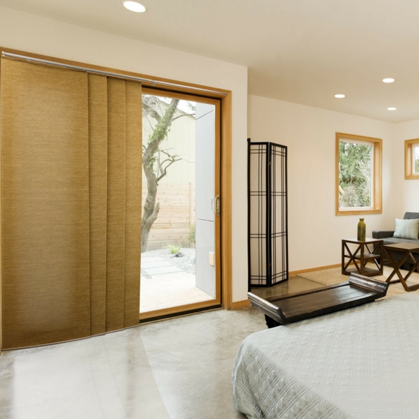 Sliding curtains made of bamboo bedroom sunshade curtain rails