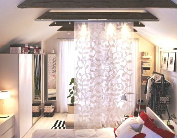 sliding curtains ideas room divider surface curtains patterned light wooden beam