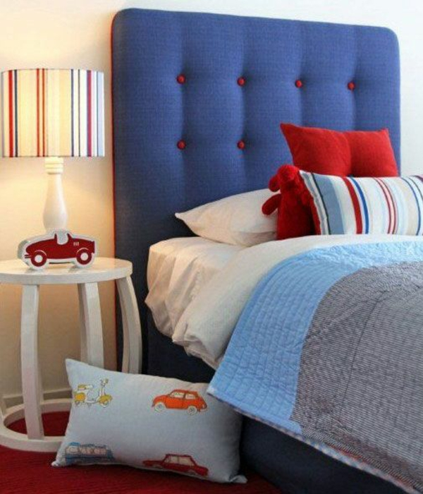 bedroom headboard colorful upholstered