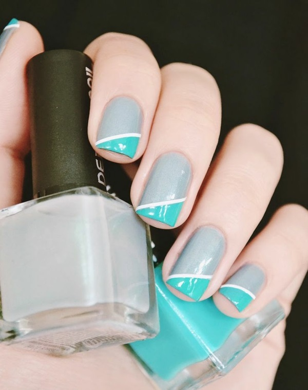 simple nail design finger nails pictures plain tricolor