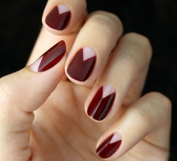 simple nail design fingernails pictures simple nails cherry red
