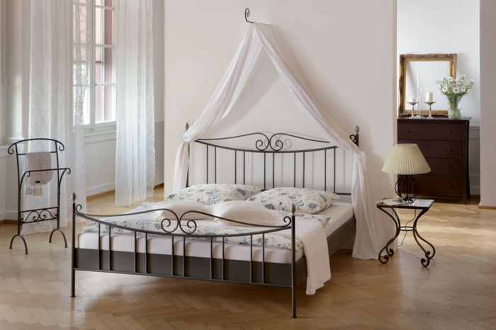 wrought iron bed plain iron canopy