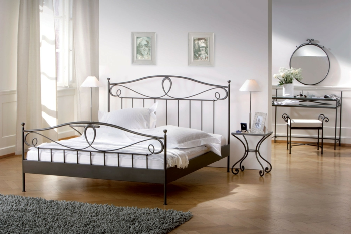 wrought iron bed waves ornaments lurano hasena