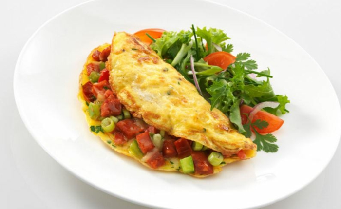 fast food fast healthy eating omelet