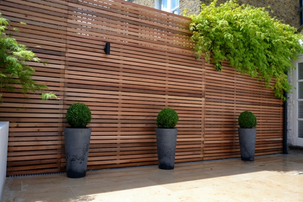 privacy protection wood backyard in the garden design garden furniture design