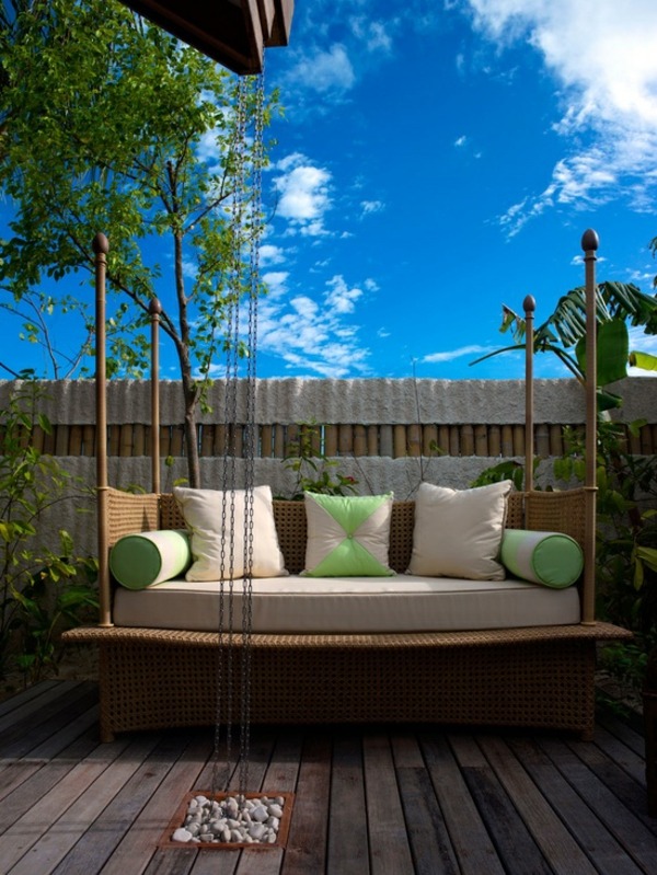 visual protection wood backyard in garden design garden furniture