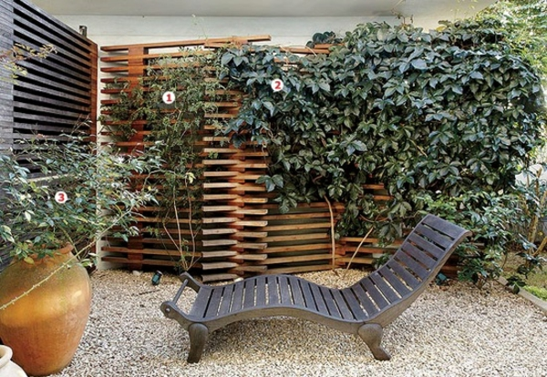 visual protection of wood in the garden design lounger