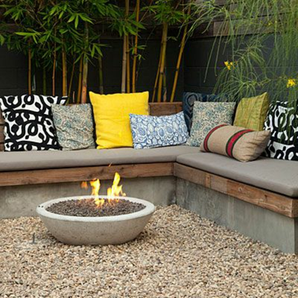 bench build your own patio colorful throwaway fireplace