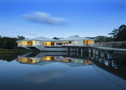 solid futuristic house design australia lighting