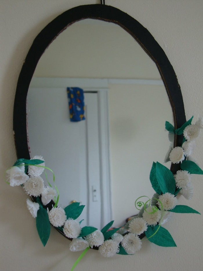mirror-decorate-Floral Deco mirror frame