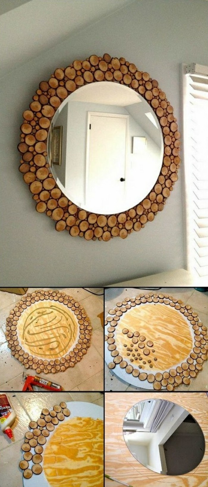 decorate-cork decorating ideas mirror-