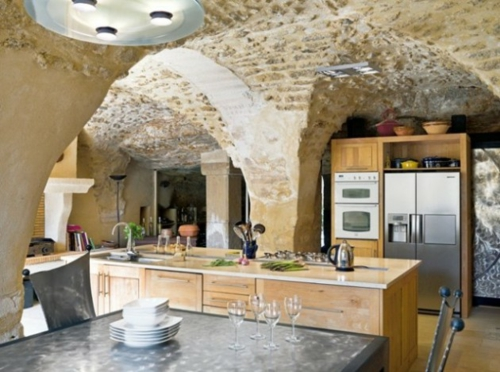 stone design kitchen rustic modern furniture appliances