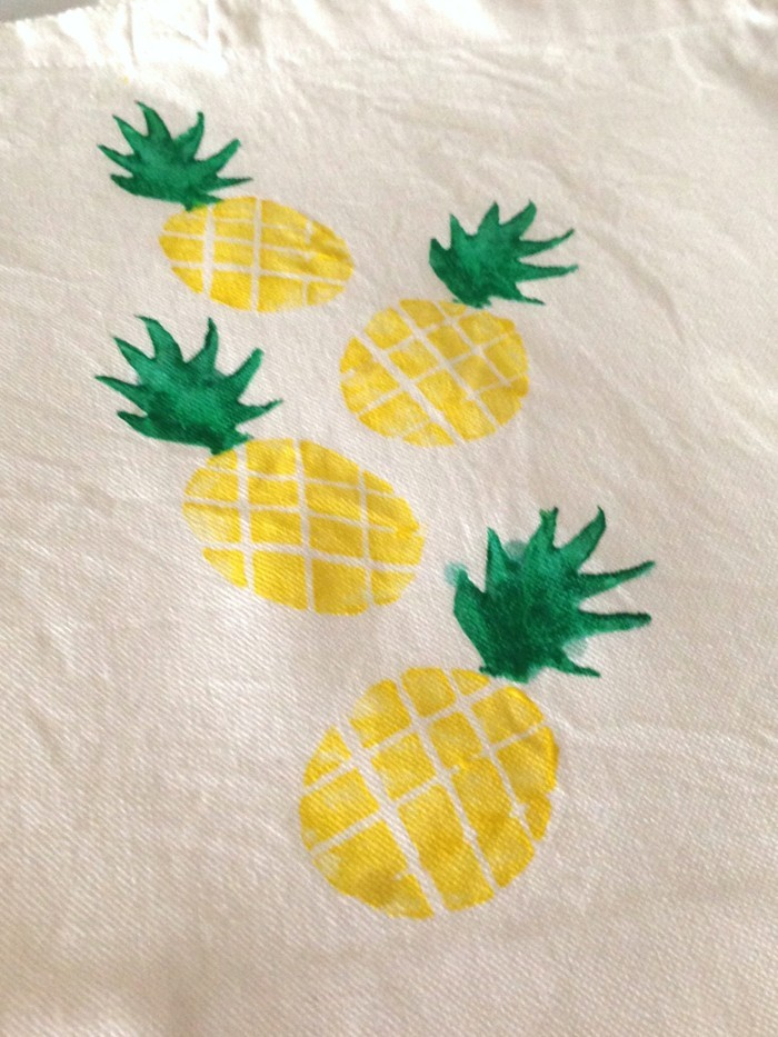 make yourself stamped sprouts flower pattern t shirt pineapple