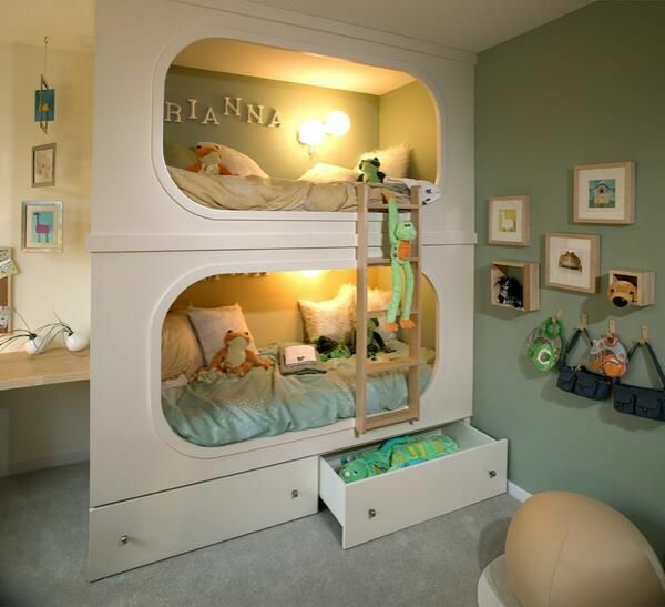 integrate bunk bed in the nursery