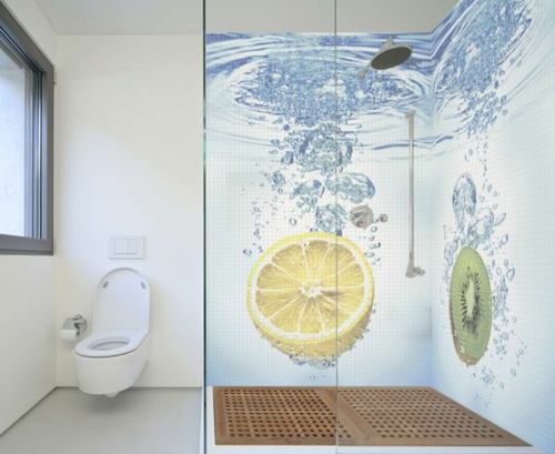 wallpaper ideas in the bath freshness mood lemon kiwi