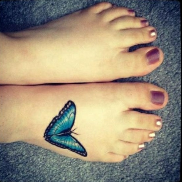 tattoo on the feet tattoos designs butterfly