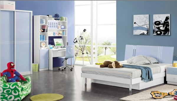 wall paint dove blue boys room decorating wall design ideas