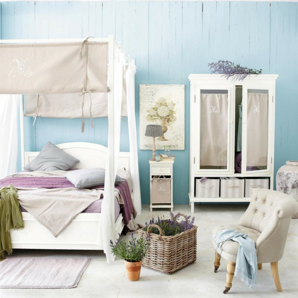 wall paint dove blue bedroom set up bedside wall design ideas
