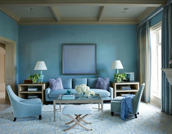 wall paint dove blue living room wall design ideas