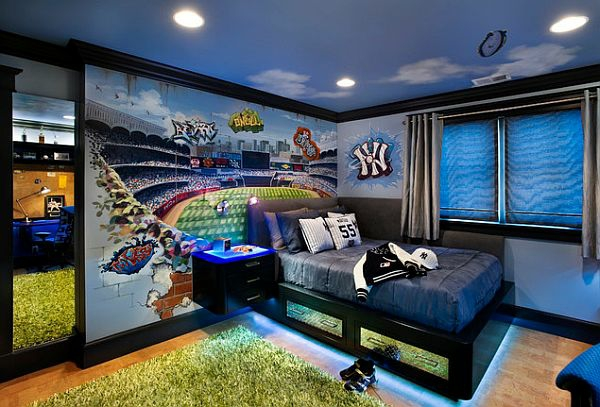Teenage room ideas fanáticos de los deportes