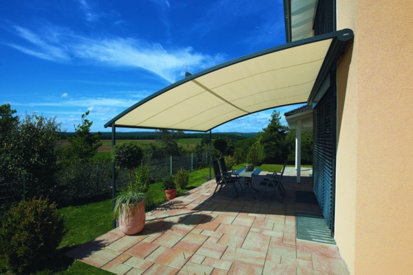 patio canopy state of the art garden design elegant