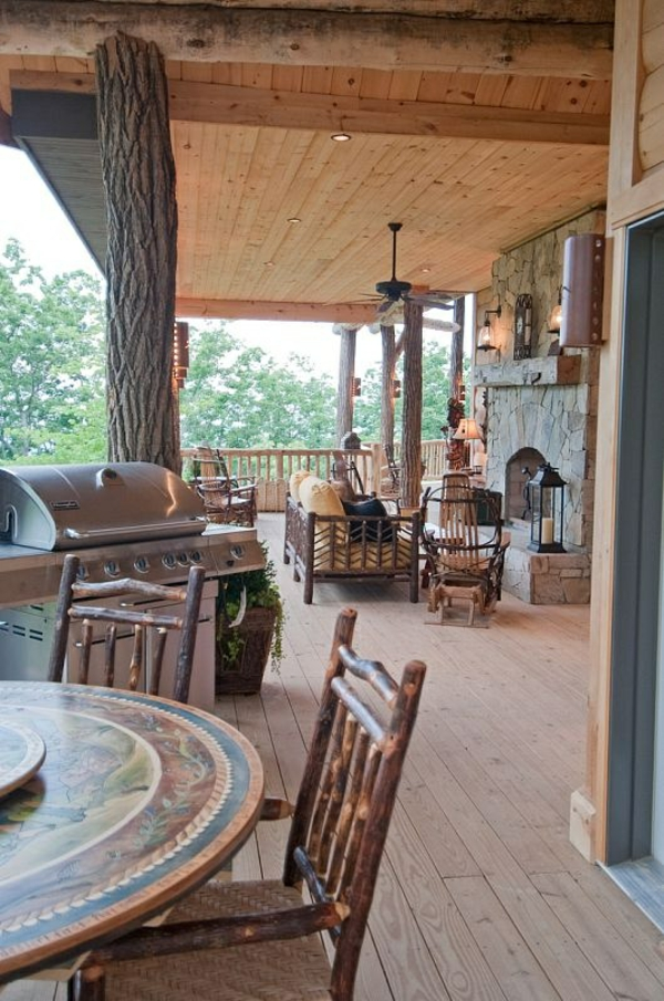 terrace design porch build american wooden houses outdoor kitchen