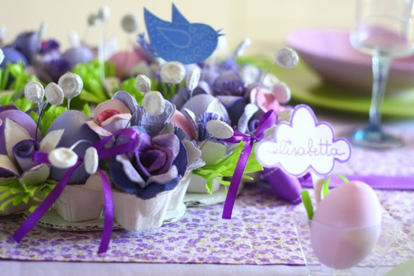 table decoration to easter purple eggs easter decorate tinker ideas