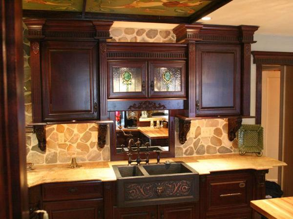Great Rinse Designs Vintage Flair Cherrywood Cabinets