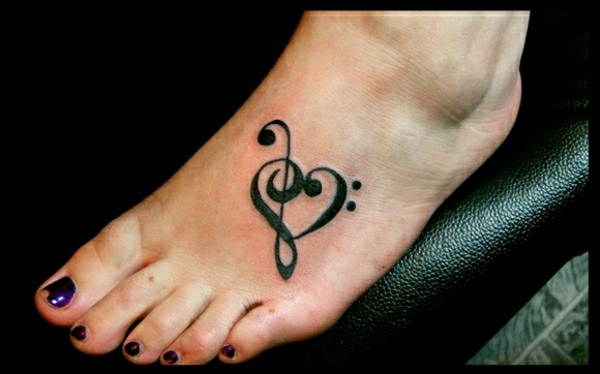 tattoos ideas tattoo on the foot note