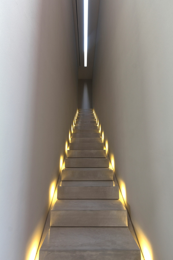 staircase lighting attractive modern inendesign ideas