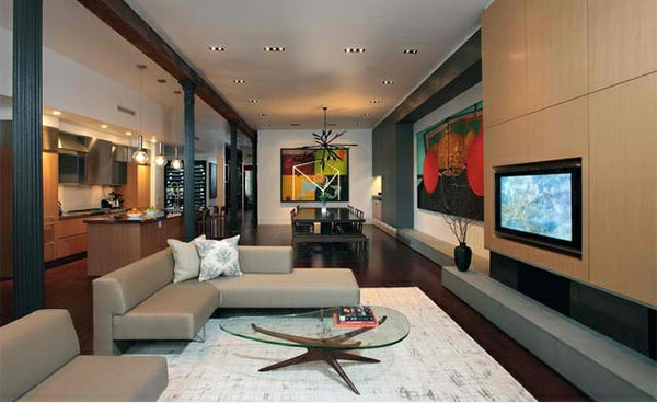 tv wall unit wall mounted living room ideas media wall flat screen TV