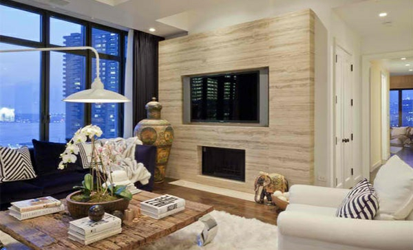 tv living room living room modern wall wood effect