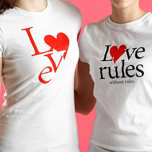 Valentine's Day t-shirts idea gift