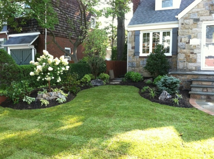 Front garden design with lots of greenery