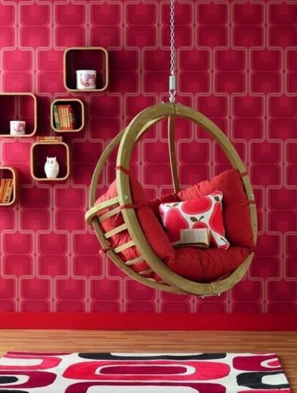 wall carpet decoration pink swing girl room ideas