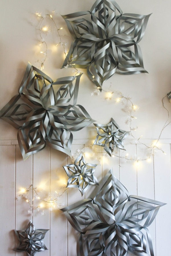 wall decoration paper stars tinker with christmas