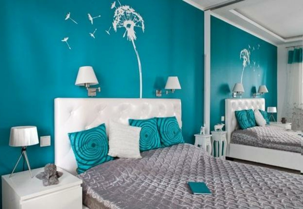 wall paint turquoise bedroom wall decal