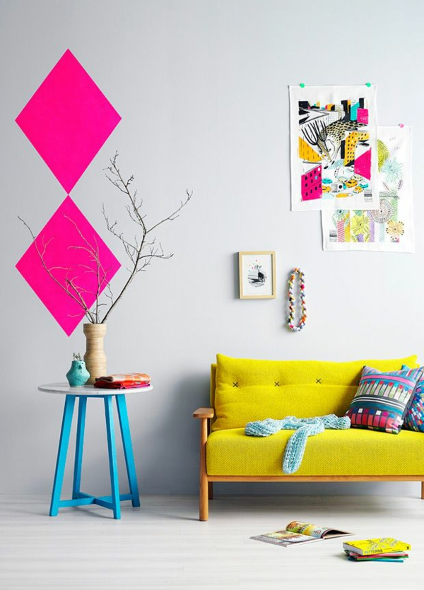 wall paint living room select sample pink colors bright colors