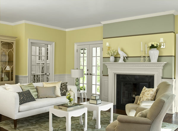 wall colors living room color scheme pastel colors yellow gray