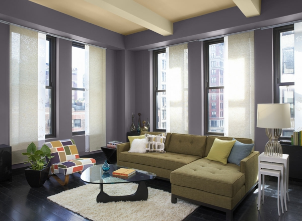 wall colors living room purple violet trend color 2014 furnishing ideas