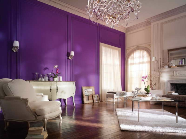 wall colors living room purpur violet trend color 2014 antique furniture