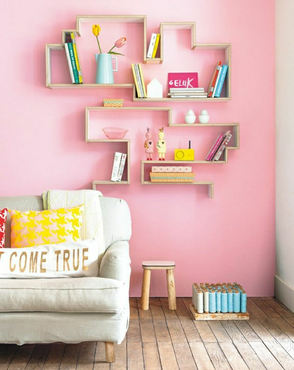 wall colors living room pink tender color scheme