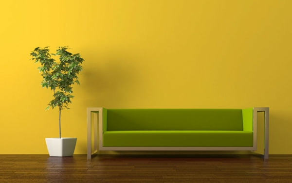 wall colors living room warm color scheme yellow living room sofa green