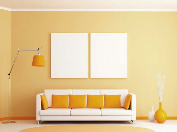 wall colors living room warm color pastel colors yellow