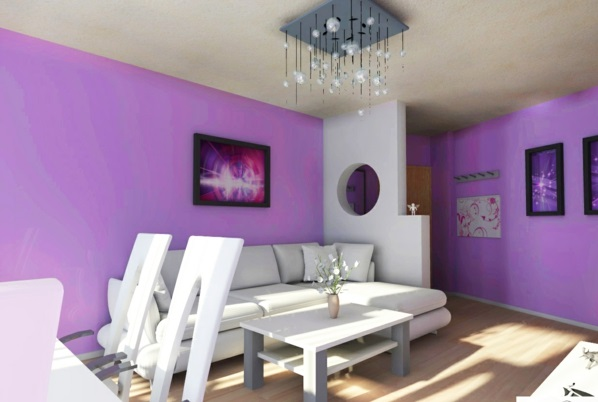 wall decoration colors painted purple